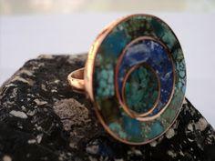 Zafiro Andino Metal Art, Collars, Jewerly, Gemstone Rings, Bling, Boho, Enamels, Image, Copper