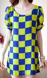 This square printed dress could be a valuable addition to your closet
