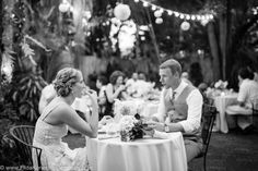 vintage black and white picture of bride and groom - intimate garden wedding in Key West, Florida ceremony/reception venue - @destoldtown  with @kwweddings  photo by Filda Konec Photography