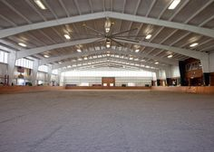 All white indoor arena
