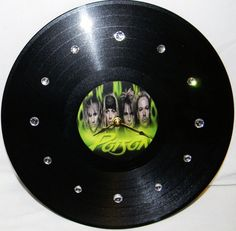 POISON Inspired Vinyl Record Wall Clock by PandorasRecordArt, $25.00