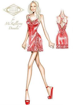 Fashion Design Drawings, Fashion Sketches, Atelier Versace, Illustration Fashion, Fashion Illustrations, Designs To Draw, Red Carpet, Sketch Ideas, Gowns