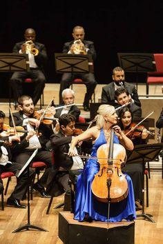 A solista Amanda Fortsyth. Foto: Cicero Rodrigues. OSB - Orquestra Sinfônica Brasileira