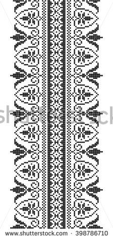 stock-vector--border-floral-ornament-cross-stitch-embroidery-vector-seamless-pattern-398786710.jpg (223×470)
