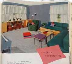 1950s Mid Century Modern House MOD Interior Decoration
