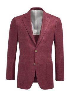 Jacket Red Plain Hudson C954i   Suitsupply Online Store