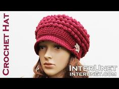 2be7bf2ae9d Crochet tutorial that teaches you how to make a crocheted slouch hat using  the Butterfly Stitch