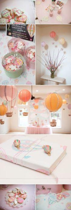 Hot air balloon party! Festa infantil tema: Balão     Les Divas
