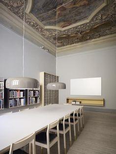 Um #teto diferente em um #sala de reunião