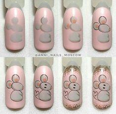 Green Nail Art, Green Nails, Animal Nail Designs, Nail Art Designs, Nail Art Hacks, Nail Art Diy, Picasso Nails, Japan Nail Art, Disney Acrylic Nails
