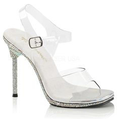 684b52b4dfa BEJEWELED-708-2 Multi Rhinestone Platform Sandals By Pleaser ...