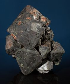 LARGE MAGNETITE CRYSTALS Madawaska Mine, Faraday Township, Bancroft District, Hastings Co., Ontario, Canada