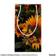 Sunflower Radiance Monarch Butterfly Small Gift Bag