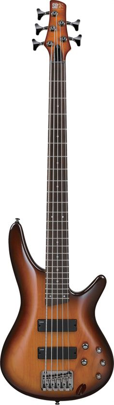 Darkened Edges Wood paneled 5-string Ibanez Bass