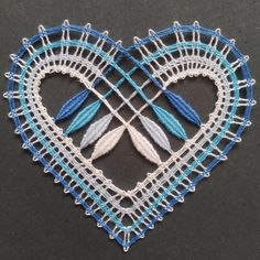 Bobbin Lace Patterns, Lacemaking, Lace Heart, Lace Jewelry, Lace Detail, Butterfly, Bobbin Lace, Doilies, Bobbin Lacemaking
