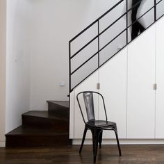Brooklyn row house staircase by Office of Architecture.