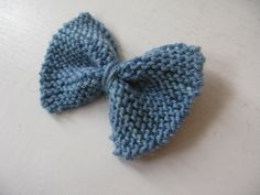 Blue Bow Barrette by WoolandViolets on Etsy