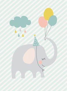 66 Ideas For Birthday Happy Design Art Designer Baby, Baby Wallpaper, Birthday Wallpaper, Happy Design, Baby Posters, Baby Art, Birthday Design, Cute Illustration, Elephant Illustration
