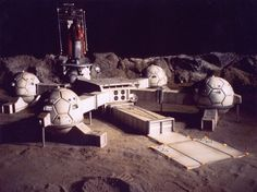 The origional Gerry Anderson Moonbase from UFO. There was always a theory amongst fans, that Moonbase Alpha from Space 1999, was what this early base may have grown into.