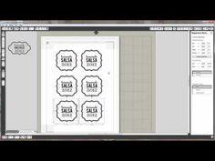 Printable Gold & Silver Foil 102 :: jar labels tutorial