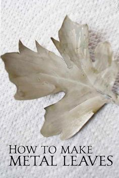 How to create your own DIY metal leaves tutorial. Using soda cans for the metal makes this an easy DIY project. DIY metal leaves for wreaths and banners. Tin Can Art, Soda Can Art, Tin Art, Tin Can Flowers, Metal Flowers, Aluminum Can Flowers, Aluminum Can Crafts, Metal Crafts, Metal Projects