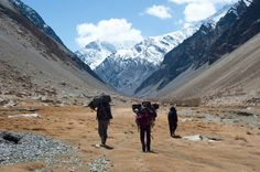 Just another day in the Hindu Kush…Walking through the Qazideh valley on the way to Mount Noshaq.