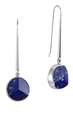 Need to add some color to your outfits? Choose Long Lapis Lazuli Silver Earrings. You are welcome! Wear with ladylike cropped blazers and pencil skirts.