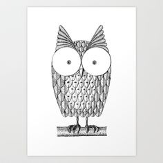 owl Art Print by Simon Maddock - $22.88