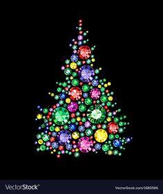 Christmas Mandala, Jeweled Christmas Trees, Christmas Rock, Diy Christmas Ornaments, Holiday Crafts, Christmas Decorations, Vintage Jewelry Crafts, Christmas Tree Painting, Jewelry Tree