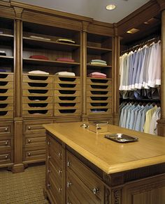 His closet - nice details Men Closet, Wardrobe Closet, Closet Space, Walk In Closet Design, Closet Designs, Lofts, Dressing Room Closet, Dressing Rooms, Closet Mirror