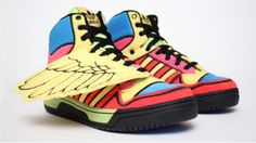 Adidas Jeremy Scott - Wings Multicolor - Funny Kicks - Someone will wear them ?