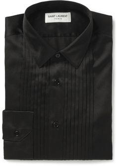 Black Silk Dress Shirt by Saint Laurent. Buy for $890 from MR PORTER