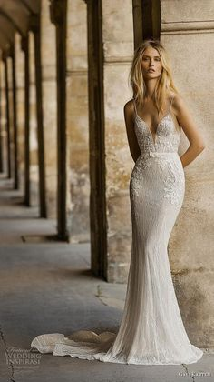 Vintage Wedding Dresses gali karten 2019 bridal spaghetti strap deep plunging sweetheart neckline heavily embellished bodice fit and flare wedding dress backless scoop back medium train mv -- Gali Karten 2019 Wedding Dresses Dresses Elegant, Trendy Dresses, Vintage Dresses, Outside Wedding Dresses, Fit And Flare Wedding Dress, Sheath Wedding Gown, Backless Wedding, Dress Wedding, Fitted Wedding Dresses