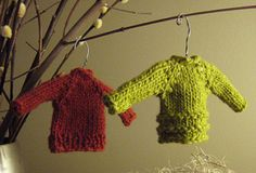Knitted tiny sweaters