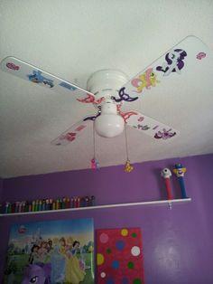 My Little Pony ceiling fan My Little Pony Bedroom, Little Girl Rooms, My Lil Pony, Little Pony Party, Girls Bedroom, Bedroom Decor, Bedroom Ideas, Bedrooms, Cheap Wall Art