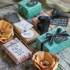 """With a French twist, these printable gift tags and colorful gift wrap will add an """"ohh, la la"""" to any of your presents."""