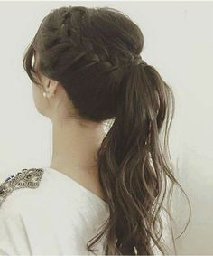 Modern business hairstyle: Photos of the best options for a business woman frisuren haare hair hair long hair short Back To School Hairstyles, Wedding Hairstyles For Long Hair, Ponytail Hairstyles, Trendy Hairstyles, Prom Hairstyles, Hairstyle Photos, Hair Wedding, Braided Ponytail, Hairstyle Ideas
