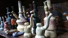 Ceramic hand made water pipes in kc