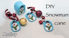 DIY Snowman millefiori cane - Polymer clay tutorial