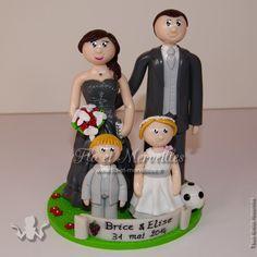 Wedding cake topper / figurines mariage personnalisées - en famille