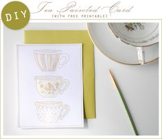 D.I.Y. Tea Painted Card with Free Printable - Home - Creature Comforts - daily inspiration, style, diy projects + freebies