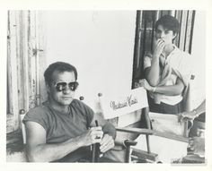 """Paul Schrader and Nastassja Kinski on the set of Cat People. According to John Milius, she said, """"Paul, I always fuck my directors. And with you, it was difficult."""""""