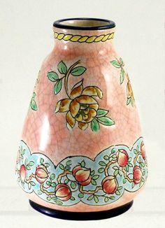 Pink Longwy Vase c. 1900