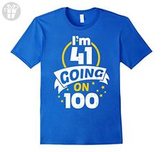 Mens Gift for 41st Birthday - 41st Birthday Present T-Shirt Medium Royal Blue - Birthday shirts (*Amazon Partner-Link)