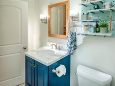 Bathroom Update: Add a Frame to a Mirror and Paint a Vanity Single Bathroom Vanity, Small Bathroom, Bathrooms, Home Design, Bathroom Colors, Bathroom Ideas, Paint Bathroom, Bathroom Updates, Bathroom Mirrors