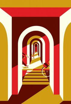 Illustration by Malika Favre Art And Illustration, Graphic Design Illustration, Gig Poster, Malika Fabre, Vector Art, Illustrators, Modern Art, Indie, Retro