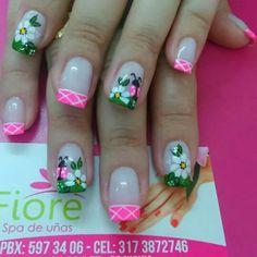Spring nails Cute Nail Art, Beautiful Nail Art, Pretty Hands, Have Some Fun, French Nails, Mani Pedi, Spring Nails, Toe Nails, Hair And Nails