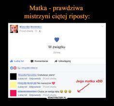 – Funny Sms, Wtf Funny, Polish Memes, Text Memes, Old Memes, Good Mood, Puns, Sarcasm, Texts