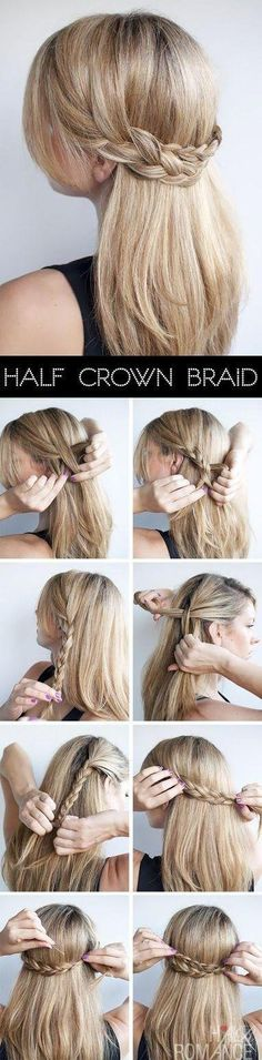 half crown braid for summer