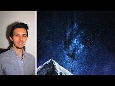 How to paint a starry night sky. A basic speed painting tutorial for beginners - YouTube